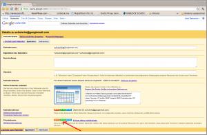 Google-Kalender URL
